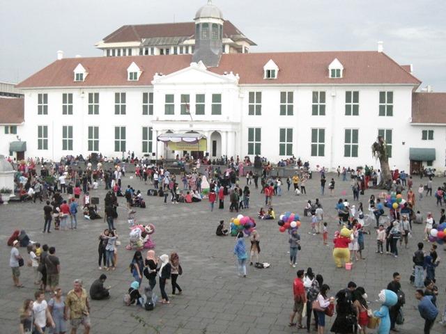 plaza Fatahillah jakarta. Casa gobernador