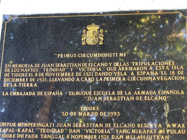 Tidore placa conmemorativa