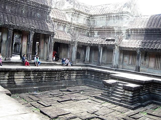 templo Angkor Wat patio